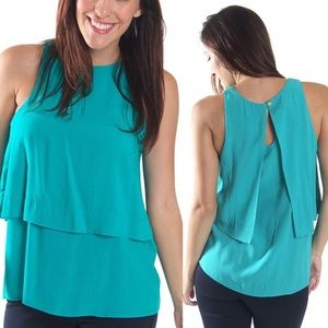 All For Color Tops - New Turquoise double layered Tank